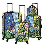 Heys USA Luggage Britto Palm Hard Side 4 Piece Luggage Set