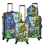 Heys USA Luggage Britto Palm Hard Side 4 Piece Luggage Set