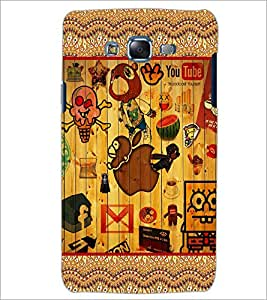 PrintDhaba Graffiti D-5097 Back Case Cover for SAMSUNG GALAXY J7 (Multi-Coloured)