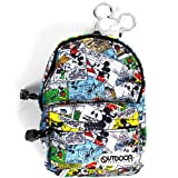 (MICKEY MOUSE×OUTDOOR) バックパック (カラビナ付ミニポーチ) コミック ミッキーマウス ディズニー