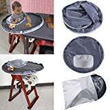 Chartsea New Baby Dinner Mat Cover Waterproof Highchair Bumper Pad Place Mat (A) (Color: A, Tamaño: 75 X 25cm)