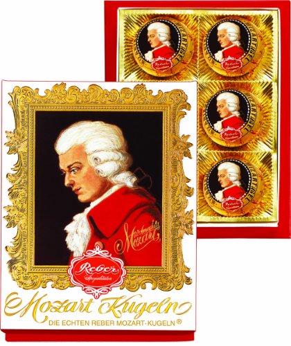 Reber Mozart Kugeln 6 Piece Portrait Box, 4.2 Ounce (Mozart Kugeln Chocolates compare prices)