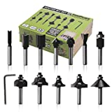 FivePears Router Bit Set-12 Piece Router Bits with 1/4-Inch Shank and Wood Storage Box,Woodworking Tools for Home Improvement and DIY Wood (Color: Black and Silver, Tamaño: 1/4