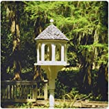 3dRose 8 x 8 x 0.25 Inches a Victorian Influenced Bird Feeder is a Lovely Garden Focal Point at Edisto Memorial Gardens Mouse Pad (mp_155296_1)