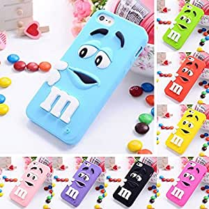 M&M Chocolate Candy Silicone Rubber Case For Iphone 5/5S