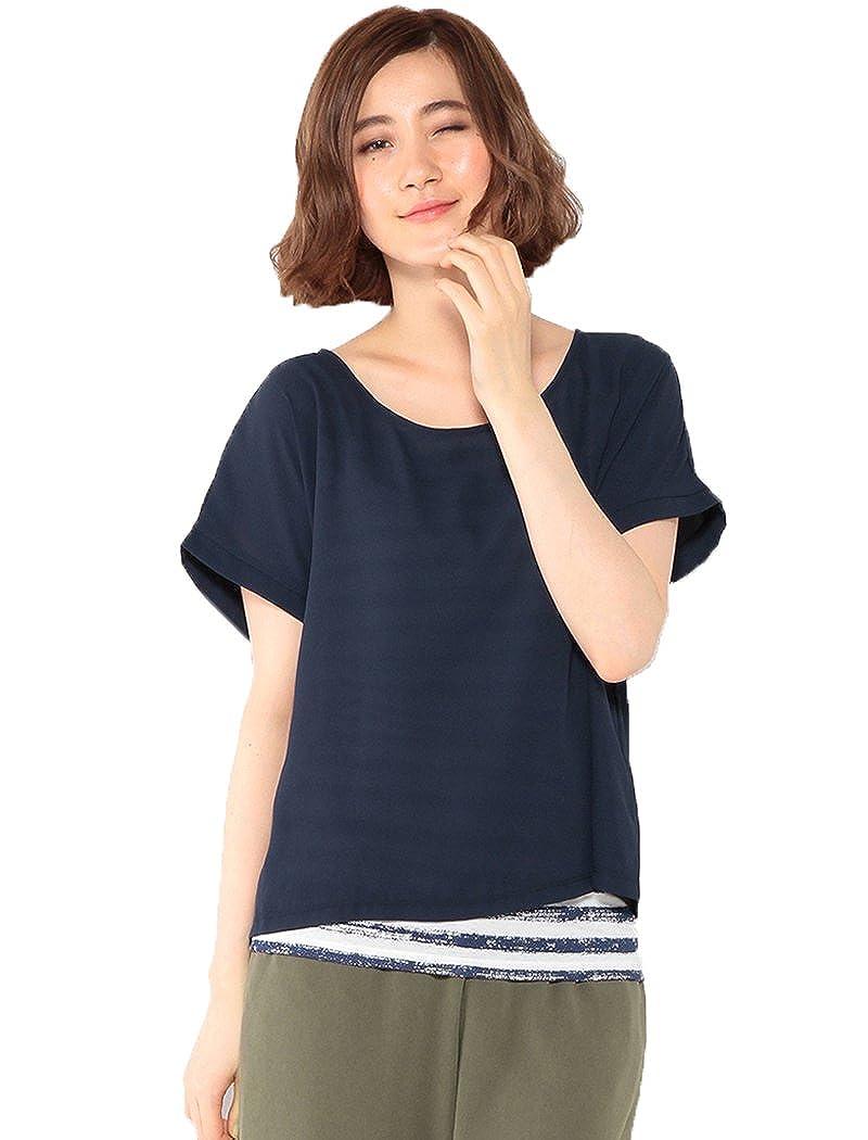 Amazon.co.jp: (エーシーデザインバイアルファキュービック)A/C DESIGN BY ALPHA CUBIC ボーダーレイヤードプルオーバー: 服&ファッション小物通販