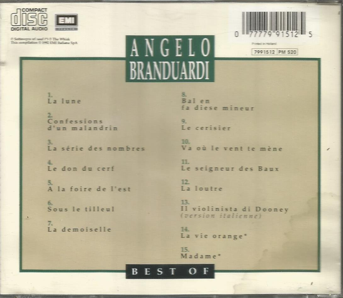 Angelo Branduardi Best of Buy Best of Angelo Branduardi