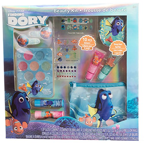 Disney Pixar Finding Dory Beauty Kit with Lip Gloss and Balm, Press-On Nails, Files and Stickers (Gifts For 4 Yr Old Girls compare prices)