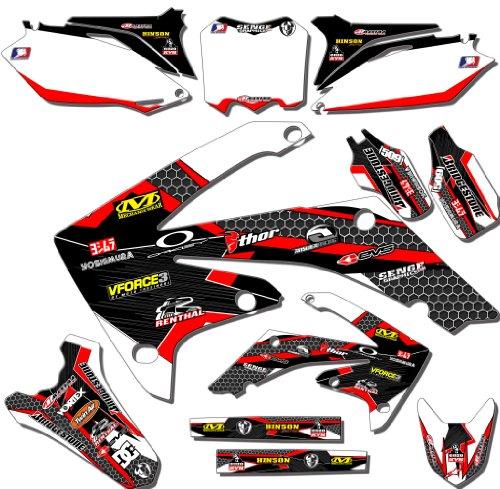 Senge Graphics 2014-2016 Honda CRF 250R Podium White/Red Graphics Kit (Honda Crf 250r Graphics compare prices)