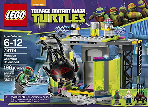 LEGO Ninja Turtles Mutation Chamber Unleashed (196pcs) Figures Building Block Toys