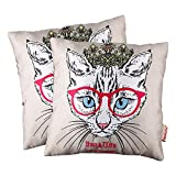 Cushion Cover Set Of 2 N Collection Digital Print With Zip Clouser At Back