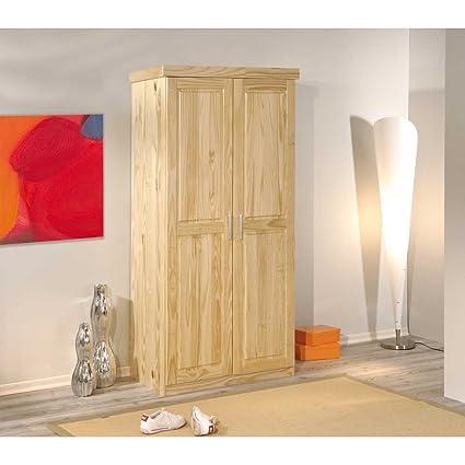 Massivholz-Kleiderschrank Classico aus Kiefer Pharao24