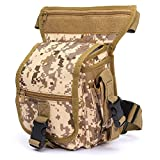 ELEGIANT Military 600D Polyester Fabric Drop Leg Bag For Outdoor Activities Earth