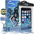 Waterproof iPhone Case - Incredibly Easy To Seal Securely - Compatible With All iPhone Models (including iPhone 6 Plus), Samsung, HTC, Sony, Nokia - All Phones/Phablets/iPods/Cameras Up To 7 Diagonal - Protects Your Phone Against Water, Dirt, Sand, Mud, Salt Water And Worse - Protect Your iPhone While Water Diving, Snorkeling, Kayaking, Boating (Or Just Facebooking In The Shower) - IPX8 Certified For Up To 98 ft/30 m - 5 Years Warranty