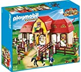 PLAYMOBIL 5221 - Large Horse Farm with Paddock + 5108 - Shire Horse with Groomer and Stable