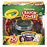 Crayola 52-0029 Crayola 150-Count Telescoping Crayon Tower, Storage Case, Sharpener