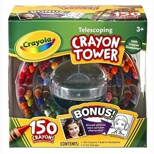 Crayola 52-0029 Crayola 150-Count Telescoping Crayon Tower, Storage Case, Sharpener