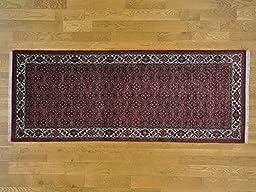 4\'x10\' Handmade Bidjar Mahi 300 kpsi Gallery Size Oriental Rug G24494