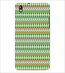 PrintDhaba Pattern D-5233 Back Case Cover for HTC DESIRE 816 (Multi-Coloured)
