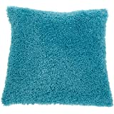 Brentwood Poodle 18 by 18 Pillow, Turquoise