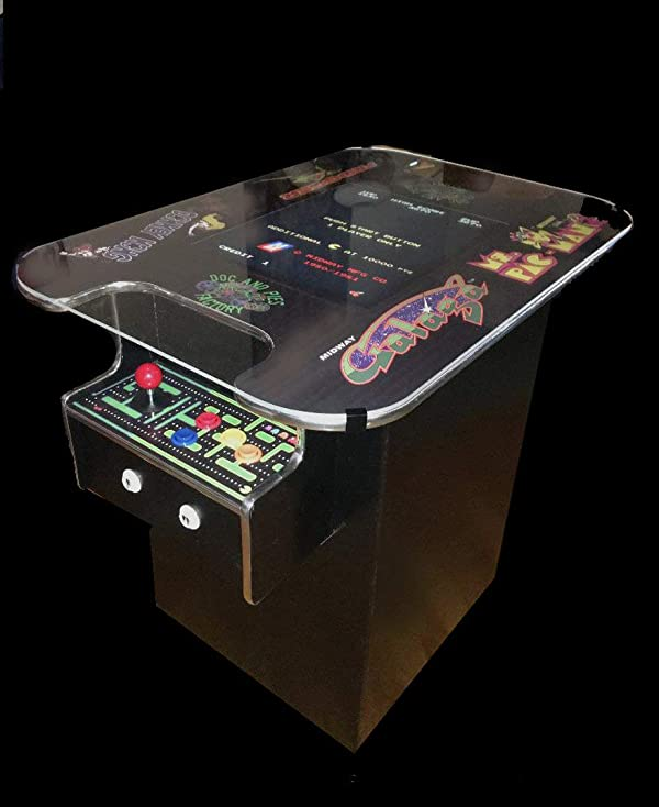 Cocktail Arcade Machine - 412 Retro Games (Galaga, Pac-Man, etc) - Full Size LCD Screen, Buttons and Joystick