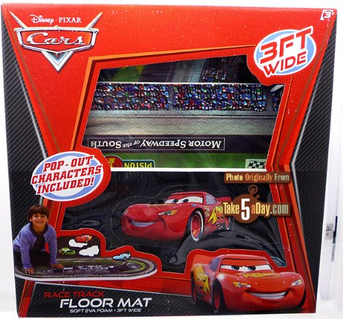 Cars race track foam floor mat Disney Pixar