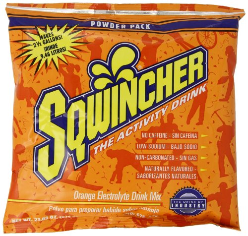Sqwincher 016041-Or 23.83 Oz Powder Concentrate Electrolyte Replacement Beverage Mix, 2.5 Gallon Yield, Orange Flavor (Case Of 32)