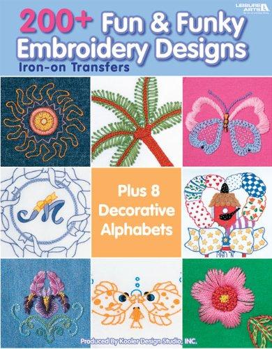 200+ Fun & Funky Embroidery Designs Iron-on Transfers