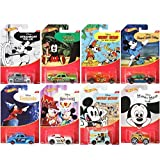 Mickey Mouse Series Hot Wheels Exclusive 8 Car Set - Steamboat Willie / Fantasia / Brave Little Tailor / Band Concert / Prince Pauper / Club (Color: Black)
