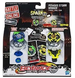 Buy Beyblade Metal Fury Pegasus Storm Bringer Twin Pack ...