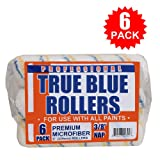 True Blue Professional Paint Roller Covers, Best for All Types of Paint (6, 9