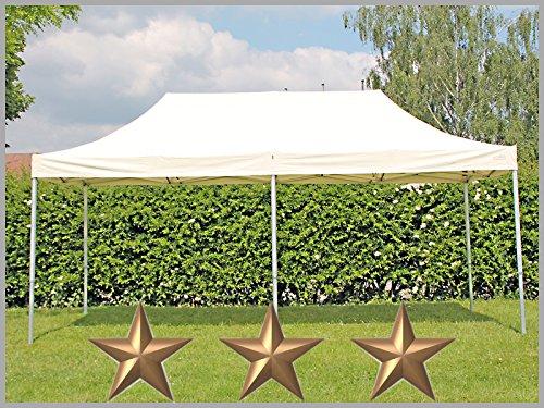 faltzelt faltpavillon 3x6m 6x3m beige partyzelt pavillon. Black Bedroom Furniture Sets. Home Design Ideas