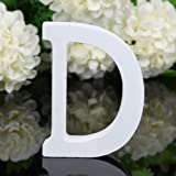 Totoo Decorative Wood Letters, Hanging Wall 26 Letters Wooden Alphabet Wall Letter for Children Baby Name Girls Bedroom Wedding Brithday Party Home Decor-Letters (D)