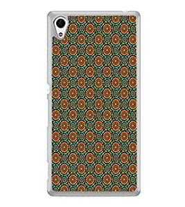ifasho Animated Pattern design colorful flower in white background Back Case Cover for Sony Xperia Z4