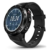 Ambition.h Zeblaze Thor 4 Plus Smart Watch, 1.4 Inch Bluetooth 4G LTE GPS Running Smart Watch Android 7.1 Quad Core 1GB+16GB with 5.0MP Camera for Men Black Activity Tracker. (Color: Black, Tamaño: /)