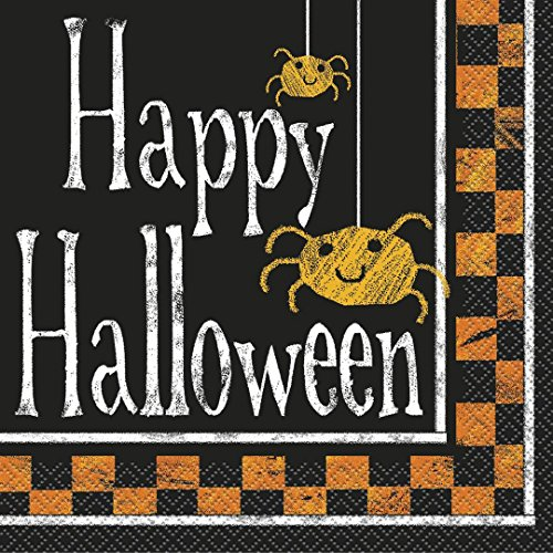 Checkered Halloween Luncheon Napkins, 16ct