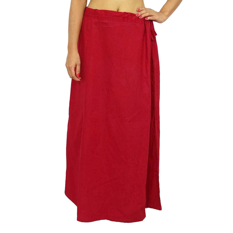 Baumwolle Saree Petticoatunderskirt Bollywood Indian Futter für Sari Ethnic Wear jetzt bestellen