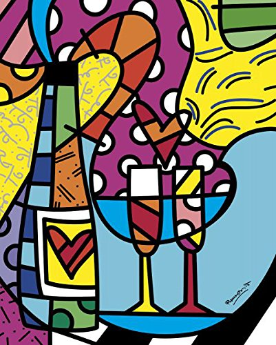 Let's Celebrate by Romero Britto Poster