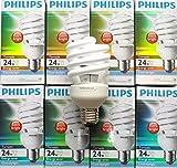6 X Genuine Philips Tornado 24W E27 CFL Energy Saver Light Bulb white cool daylight EXTRA BRIGHT, COOL DAYLIGHT 6500K