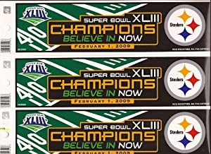 Pittsburgh Steelers Bumper Stickers Super Bowl XLIII Champions (3) Three
