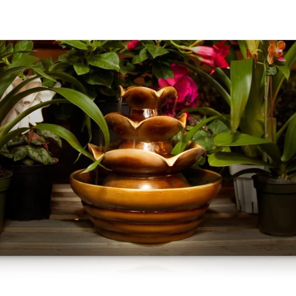 SereneLife Desktop Waterfall Fountain (3-Tier) | Cascading Tabletop Water Decoration | Indoor, Outdoor, Patio or Garden Use (SLTWF10)