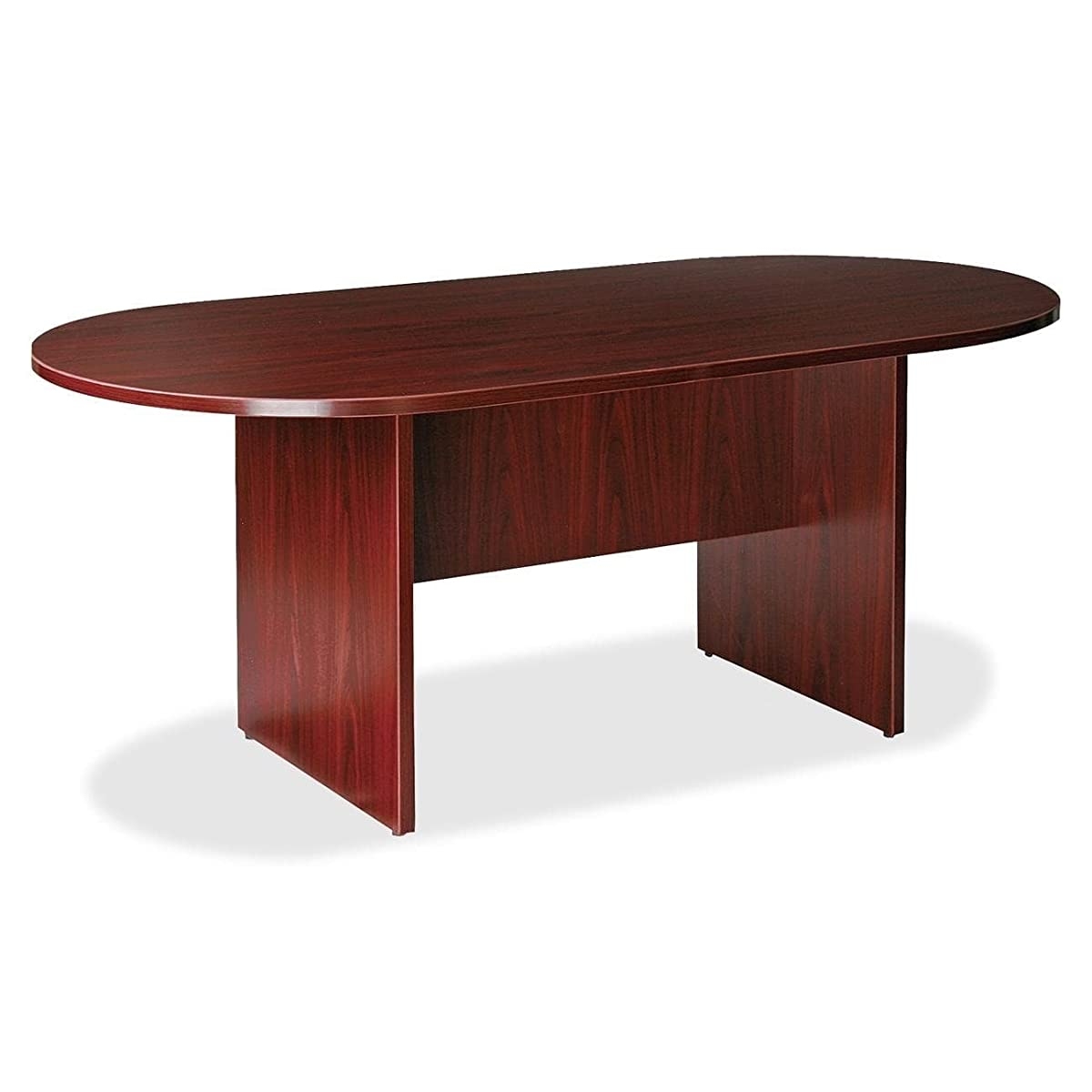 Charming Oval Conference Table, Provides Ample Open Surface to Work, Sturdy and Long Lasting Sturdy Wood Construction, Brings a Polished Look to The Room, Mahogany Finish