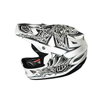 2014 Troy Lee D3 Composite Full Face Bike Helmet Aztec White X-Large 60-62cm