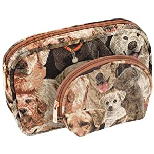 Animal World - Labrador Family Portrait All-Over Two Piece Cosmetic Case Set