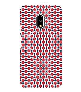 Diamond Checkered 3D Hard Polycarbonate Designer Back Case Cover for Motorola Moto G4 Plus :: Moto G4+ :: Moto G4
