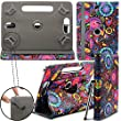 """New Design Universal Leather 360 degree Rotating Stand Case Cover For Apple iPad Mini 3 - Jellyfish ( Designer Folio Android Colourful Luxury Protective 7"""" Tab Flip Skin ) by Gadget Giant�"""