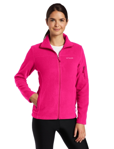 Columbia Women's Fast Trek Ii Full Zip Fleece Jacket, Deep Blush, Small