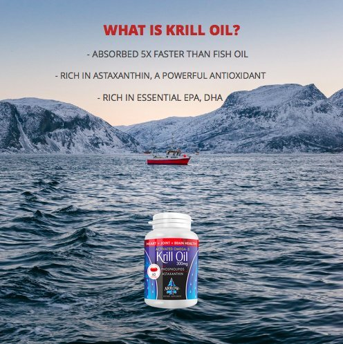 Premium krill oil pure antarctic krill with epa dha and for Fish oil with astaxanthin