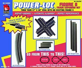 Life-Like Trains Power-Loc   Track Expander Set - Figure-8