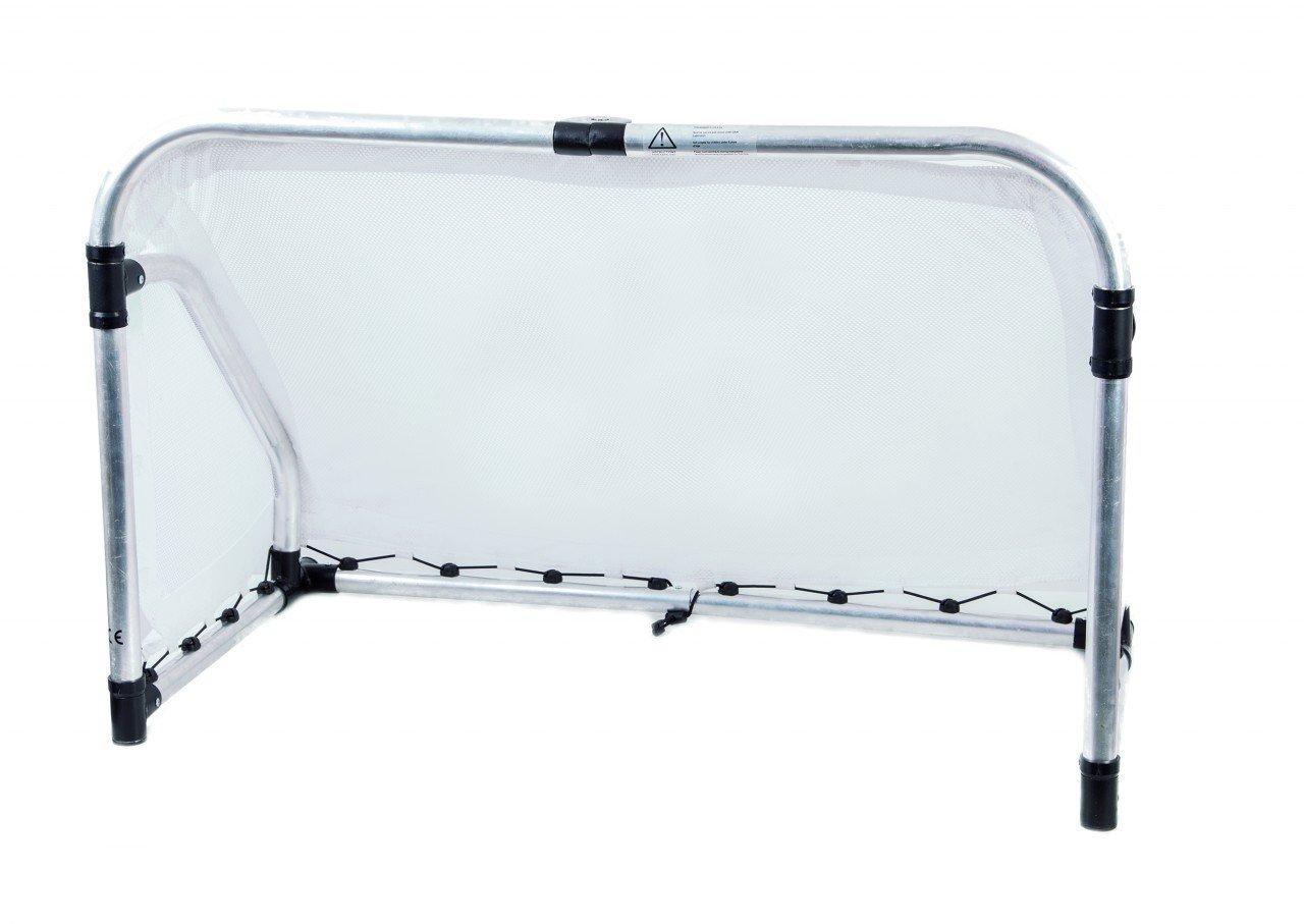 Aluminium Fußballtor faltbar groß / Maße: 155 x 95 x 75 cm / Gewicht: 19kg / Alu-Rohre: 38mm stark / Soccer-Tor für drinnen + draussen gee bestellen
